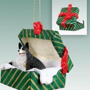 Conversation Concepts Welsh Corgi Cardigan Gift Box Green Ornament