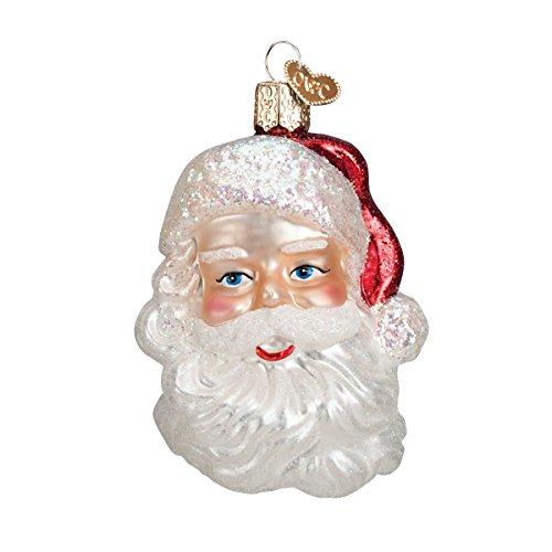 Old World Christmas Mid-Century Santa Head Glass Blown Ornament