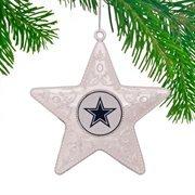 Dallas Cowboys Silver Star Ornament