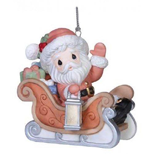 Precious Moments Inc. 151021 Santa's on His Way in Sleigh Ornament