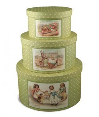 Bethany Lowe Easter Polka Dot Nesting Boxes, Set of 3 – LG1671