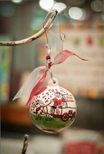 Glory Haus Oklahoma Ball Ornament, 4 by 4-Inch