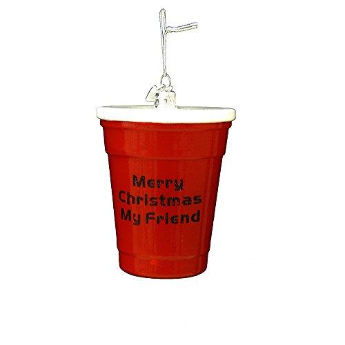 Kurt Adler 3.5″ Noble Gems Red Cup Glass Ornament