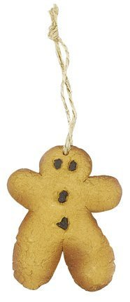 Blossom Bucket Gingerbread Ornament Christmas Decor, 4″ High by Blossom Bucket