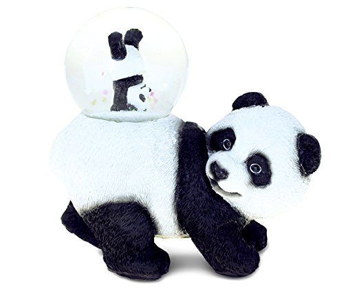 Puzzled Panda (45MM) Resin Stone Finish Snow Globe – Animal Theme – Unique Elegant Gift and Souvenir – Item #9468