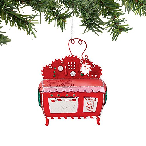Department 56 Mrs. Claus Sweet Shoppe Mrs. Claus Oven Ornament, 4.25″