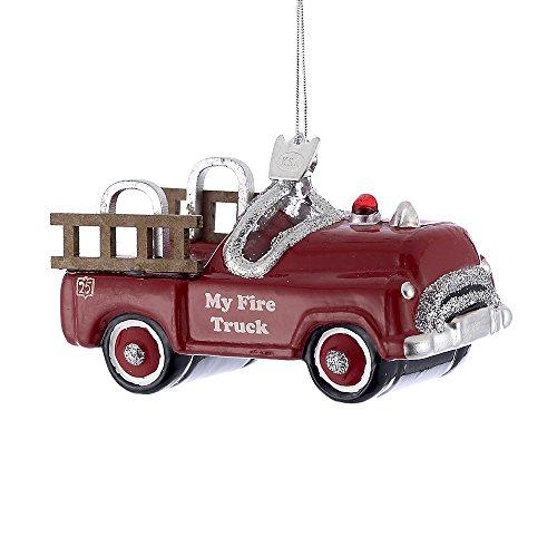 Kurt Adler 4″ Noble Gems Children's Fire Truck Ornament