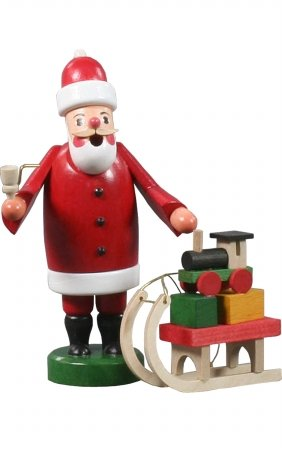 Alexander Taron Importer 136-081  Dregeno in cense Burner Santa Claus Pulling a Sled with Toys