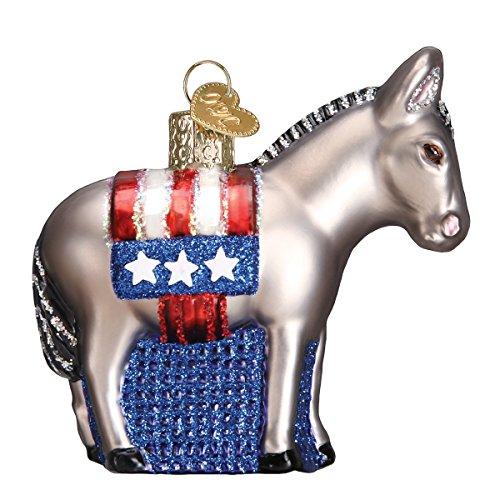 Old World Christmas Democratic Donkey Glass Blown Ornament