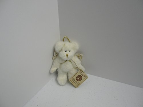 Boyds Bears Plush Angel Ornament White with Gold Accents