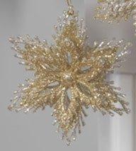 Glittered Starburst Ornaments (Gold)