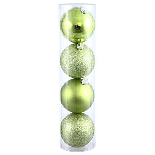Vickerman 163627 – 3″ Lime Shiny Matte Glitter Sequin Ball Christmas Tree Ornament (16 pack) (N590813)