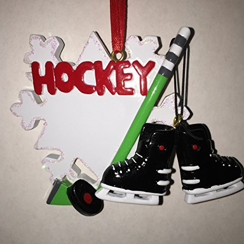 Hockey Ornament Personalized Christmas Tree Ornament