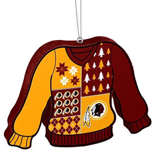 Washington Redskins Official NFL 5.5 inch Foam Ugly Sweater Christmas Ornament by Forever Collectibles 239906
