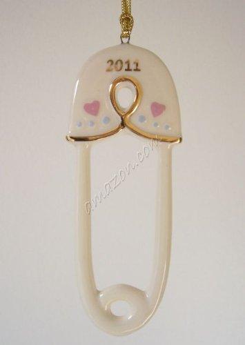 Lenox 2011 Babys 1st Christmas Diaper Pin Ornament