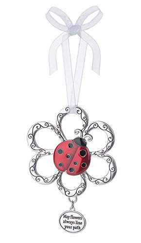 LadyBug Ornament – May flowers always line your path by Ganz