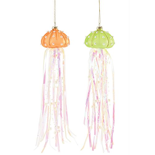 Department 56 Gone to The Beach – Jellyfish Streamer Ornament A