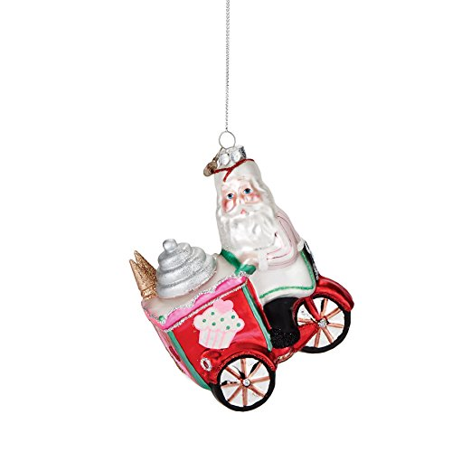 Department 56 Mrs. Claus Sweet Sornamentppe by Santa Candy Cart Ornament 4.5 In