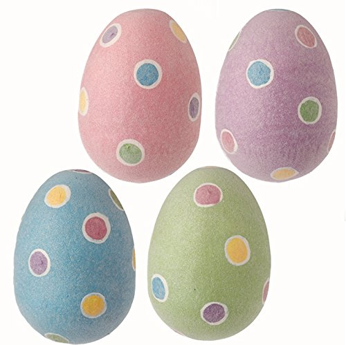 RAZ Imports Easter Spring Decor – Whimsy Sugar-Glitter 5″ Eggs 4pc. Set