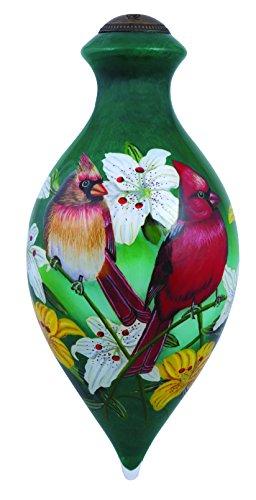 "Ne'Qwa Art, Housewarming Gifts, ""North American Cardinals"" Artist Cynthie Fisher, Brilliant-Shaped Glass Ornament, #7144112"