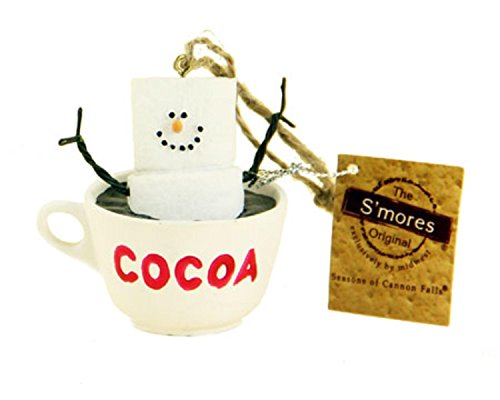 2.75″ S'mores Marshmallow Character in a Hot Cocoa Mug Decorative Christmas Ornament