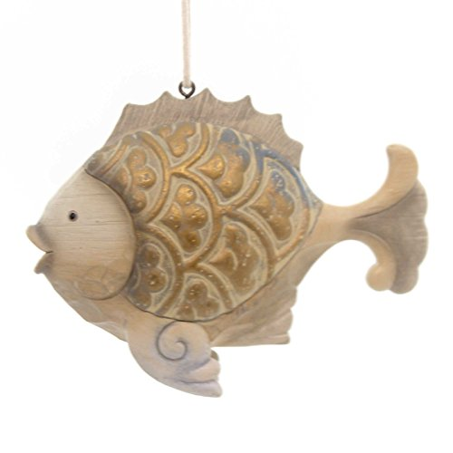 Jim Shore COASTAL FISH HANGING ORNAMENT Polyresin River's End 4054609
