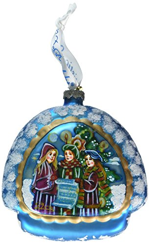 G. Debrekht Christmas Carol Rainbow Glass Ornament