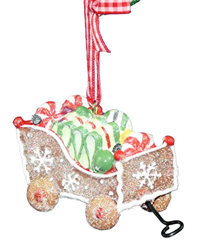 Kurt Adler Goose Berry Patch Candy Wagon Ornament (Brown)