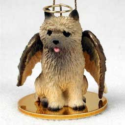 Cairn Terrier Angel Dog Ornament – Red by Conversation Concepts