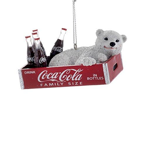 Kurt Adler Coca-Cola Polar Bear in Crate Ornament