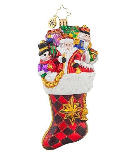 Christopher Radko Glass Stocked with Joy Christmas Stocking Ornament #1017651