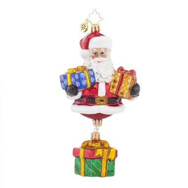 Christopher Radko Bringing Gifts N' Joy Santa Glass Christmas Ornament – 7″h.