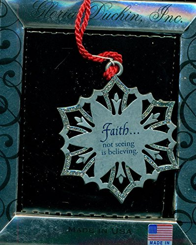 Gloria Duchin Faith Snowflake Ornament