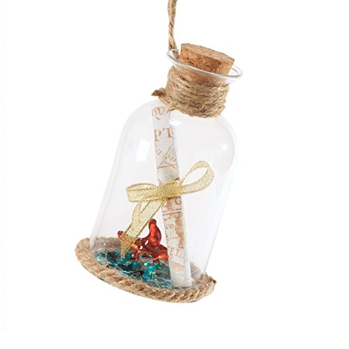 Department 56 Coastal by Message in Bottle Ornament 4.5 In