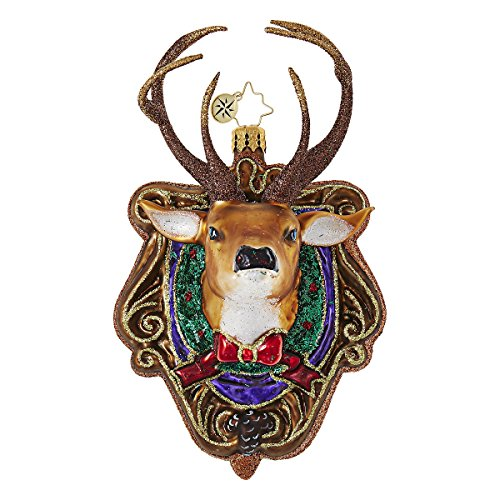 Christopher Radko Oh Deer Stag Reindeer Animal Christmas Ornament
