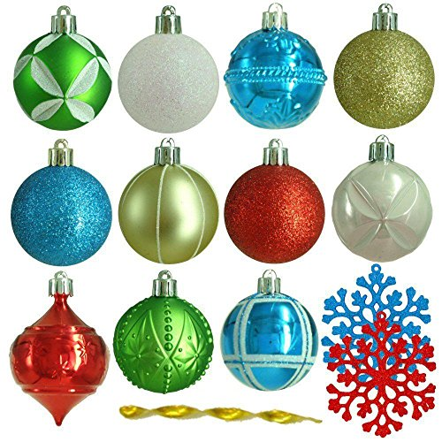 Martha Stewart 101 pc. Shatter Resistant Alpine Christmas Tree Ornaments