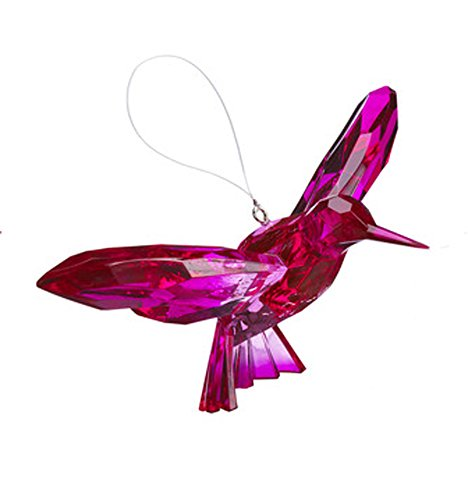 Ganz Crystal Expressions Ornament – Hanging Two-Toned Hummingbirds (Hot Pink/ Pink)