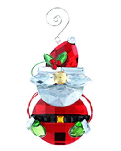 Santa Claus Faux Crystal Christmas Ornament – By Ganz