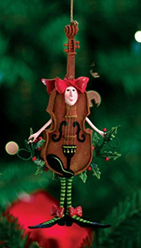 Patience Brewster Krinkles Violin Christmas Ornament
