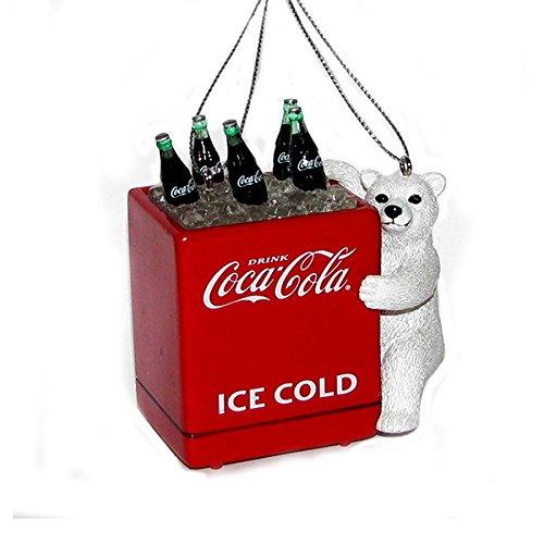 Kurt Adler Coca-Cola Polar Bear Cub with Cooler Ornament
