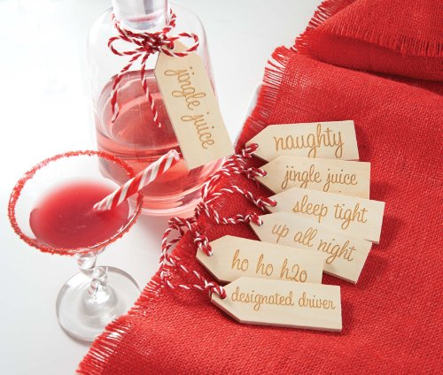 Mud Pie Christmas Holiday Beverage Tag Set of 6