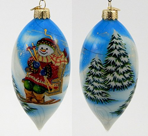 Old World Christmas – Snowman Chairlift – Inside Art Ornament