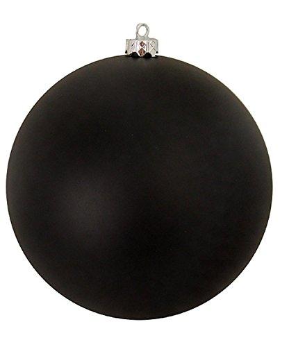 Vickerman Matte Jet Black Commercial Shatterproof Christmas Ball Ornament, 10″