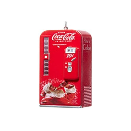 Kurt Adler Coca-Cola Vending Machine with Santa Ornament #CC1162