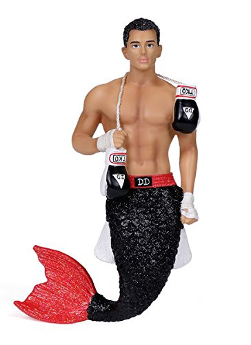December Diamonds TKO Merman with Boxing Gloves Christmas Ornament 5555040 New