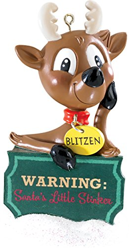 2015 Humorous Reindeer Carlton Ornament