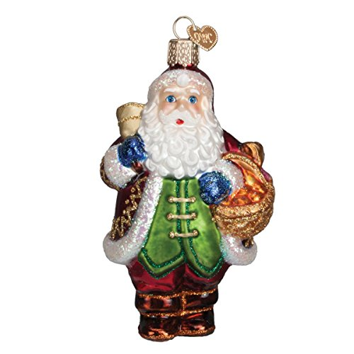 Old World Christmas Bell Ringer Santa Glass Blown Ornament