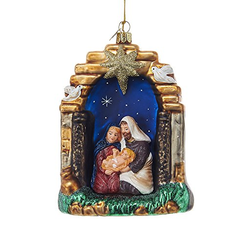 Kurt Adler 5.25-inch Noble Gems Nativity Scene Ornament