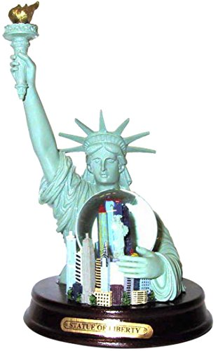 Statue of Liberty Replica Holding New York City Skyline Snowglobe- Ultimate Souvenir