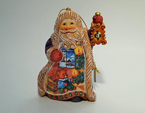 G. Debrekht Santa Ornament, 4.5″